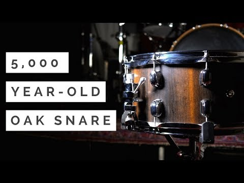 5,000 YEAR-OLD BOG OAK SNARE DRUM   REPERCUSSION DRUMS REVIEW