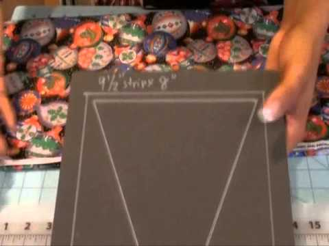 Using the AccuQuilt Studio Die Large Isosceles 50700 - Part 1 - Die Marking and Fabric Prep