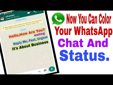 How To Change WhatsApp Chat Color and Status Colors, Top Android App WhatsApp New Update - PTF