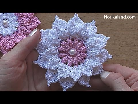 Crochet flower tutorial  VERY EASY