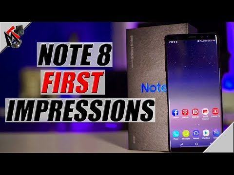 Samsung Galaxy Note 8 UNBOXING and FIRST IMPRESSIONS in 2018