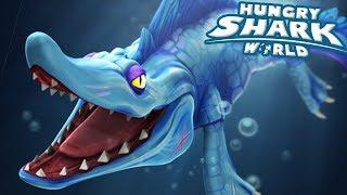 MOSASAURUS EATS ALL!!! - Hungry Shark World | Ep 68 HD