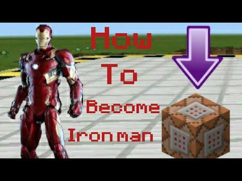 MCPE HOW TO MAKE IRON MAN WEAPON OR BECOME IRON MAN