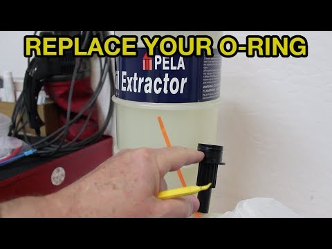 PELA Oil Extractor O-Ring Replacement