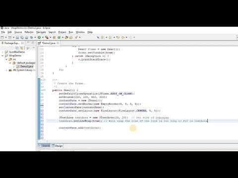 Line /Word wrap in JTextArea
