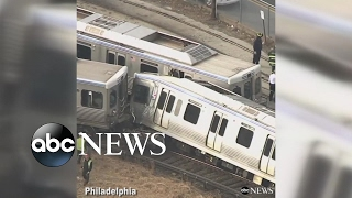 Trains collide outside of Philadelphia