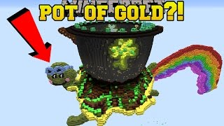 Minecraft: POT OF GOLD AT THE END OF THE RAINBOW!! - Custom Map