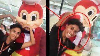 Nag-selfie kay Jolibee pero naka- MCDO sign (NAGALIT SI JOLIBEE)