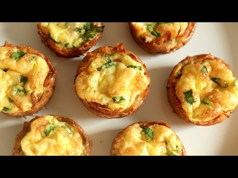 Mini Ham & Cheese Quiches (Easter Recipe) | Just Eat Life