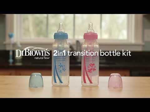 Dr. Brown's 2-in-1 Transition Bottle Kit
