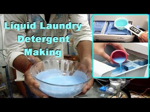 How to make laundry liquid detergent in hindi and english.