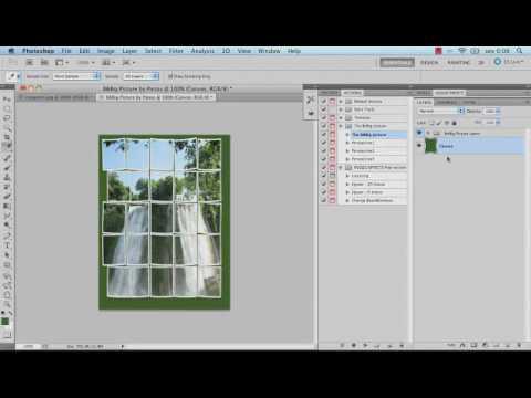 Actions de Puzzle e Photo Collage no Photoshop CS5