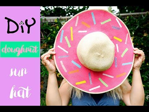 DIY doughnut sun hat
