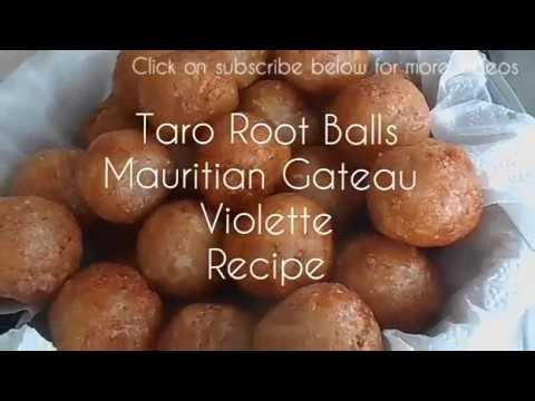 Taro Fried Balls - Mauritian Gateau Violette