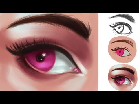 How to Draw Eyes (Photoshop Tutorial)