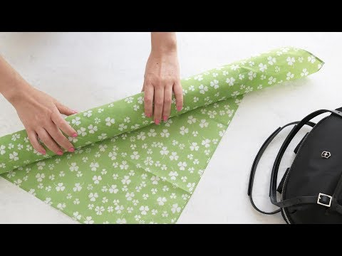 Furoshiki Wrapping Tutorial: Wine Bottle