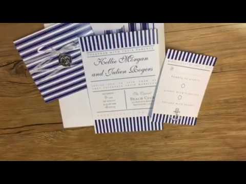 Nautical Wedding Invitation - Stripes