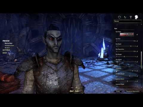 Elder Scrolls Online Detailed Character Creation