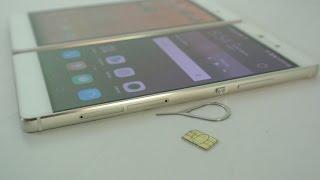 Huawei P8 / P8 Lite - How To Insert SIM Card & Micro SD Card HD