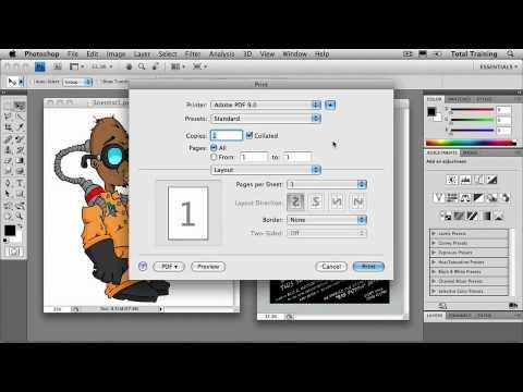 Adobe Photoshop CS4 Essentials Print Documents from Photoshop - Print to PDF