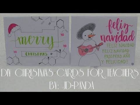 DIY Christmas Cards for Teachers (Chemistry & Spanish) | JD-PANDA