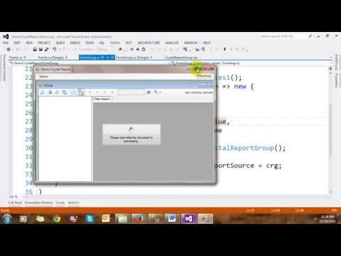 Crystal Report in C# Windows Application