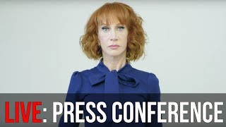 watch kathy griffin speaks at press conference over president donald trump bloody head controversy