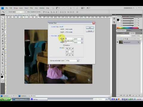 Resizing your canvas in photoshop.wmv