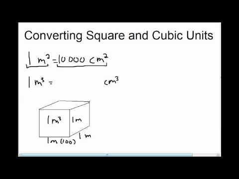 Converting Square and Cubic Units