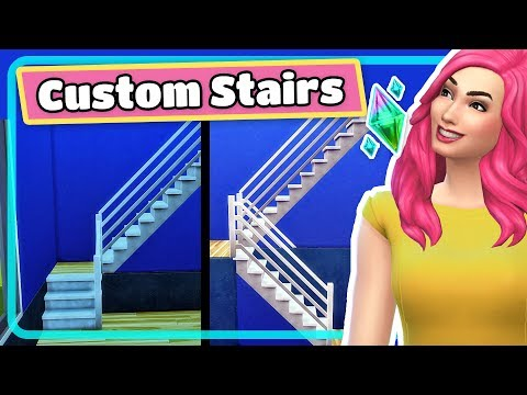 The Sims 4 Stacked Stairscases and U or L Shaped Stairs Tutorial