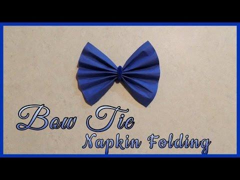 Bow Tie Napkin Folding