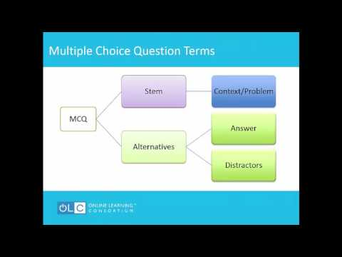 Writing Quiz Questions That Require Higher Order Thinking