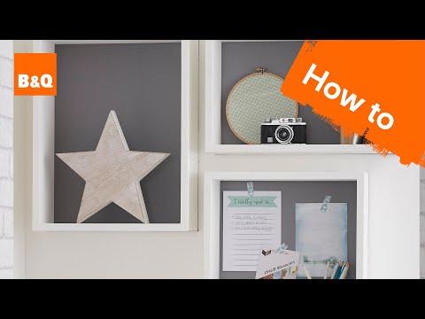 How to make wall box shelving