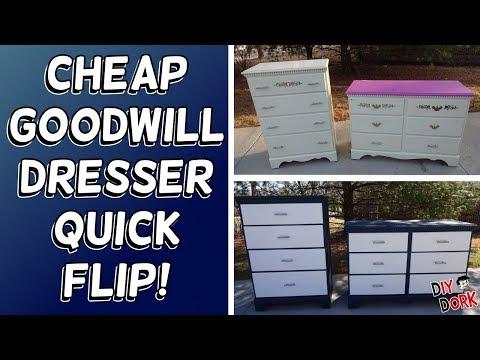 $40 Goodwill Dresser Set Quick Flip Makeover!