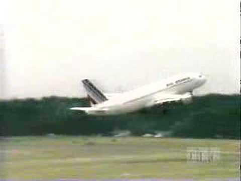 Airbus A320 test flight gone wrong