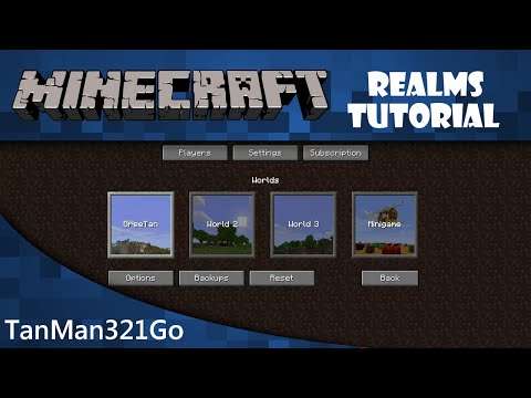 Minecraft Realms Tutorial PC : edit world settings