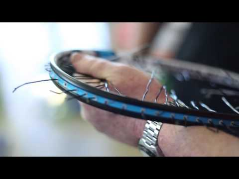 Eye Rackes: How To Re-string an Eye Racket with Nick Down