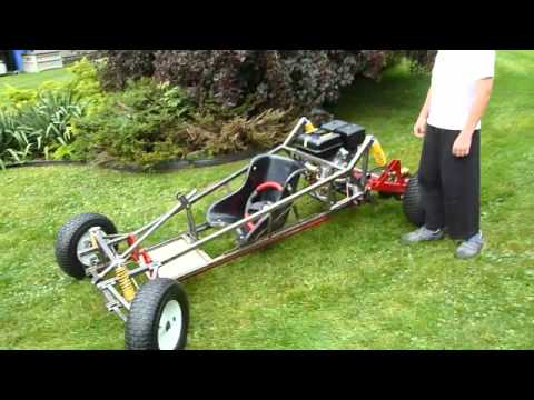 Homemade Off Road Go Kart upgraded with a 9HP engine (Pictures & Video)
