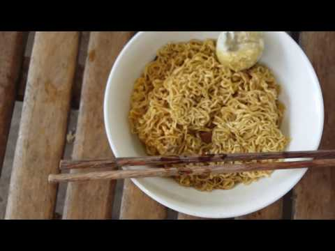 Simple Breakfast - Instant Noodles With Baby Duck Egg - Food In My Village