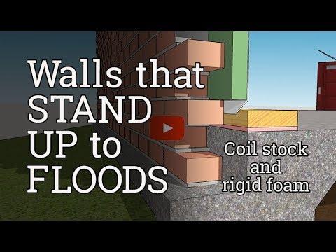 Brick Wall Flood Retrofit (Coil Stock and Rigid Foam)