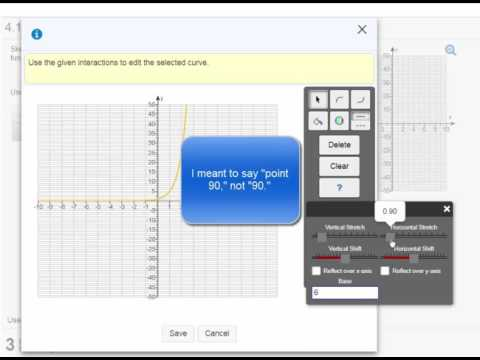 Graphing Exponential Functions on MathXL