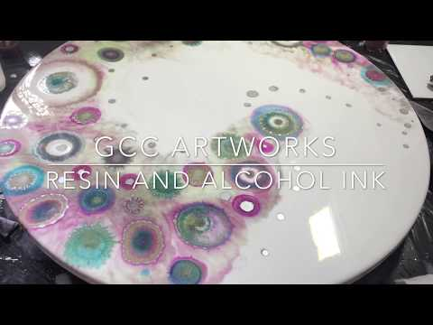 Resin and Alcohol Ink GEODE ART