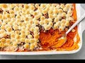 How To Make Sweet Potato Casserole With Marshmallows AND Pecans   Delish Insanely Easy