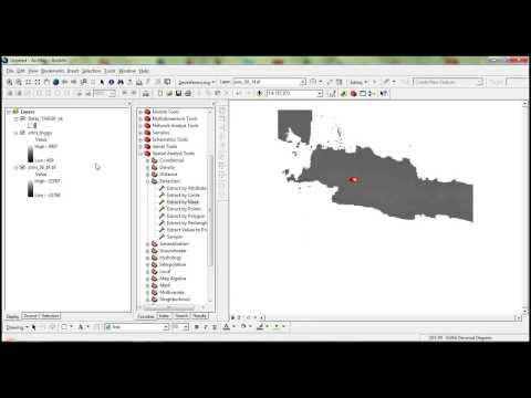 How to draw contour map in ArcGIS applications