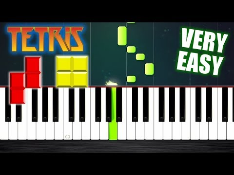 Tetris Theme but it's VERY EASY Piano Tutorial by PlutaX