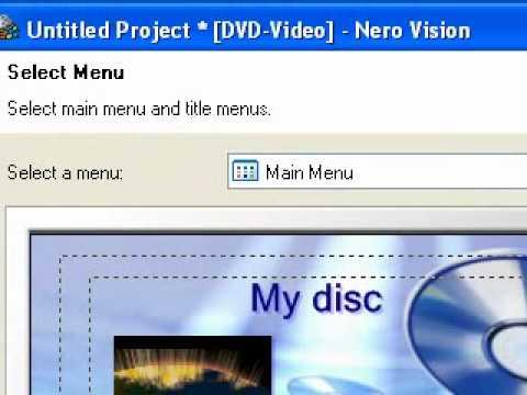Convert an AVI Movie to DVD movie using Nero 7 Essentials