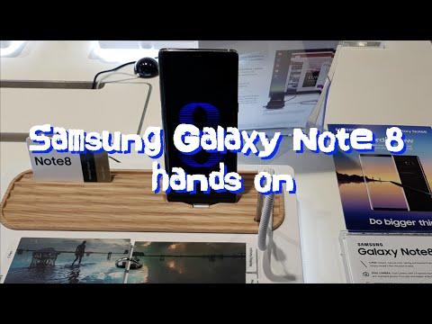 Samsung Galaxy Note 8 hands on (4K)