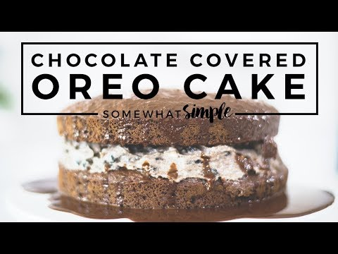 Incredibly EASY Chocolate Covered Oreo Cake!