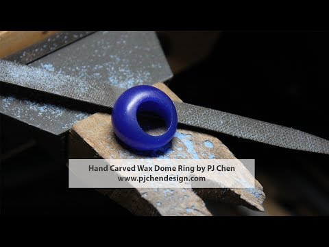Jewelry Design and Fabrication- How to Hand Carved a Wax Dome Ring