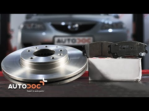 How to replace front brake discs and brake pads MAZDA 6 TUTORIAL | AUTODOC